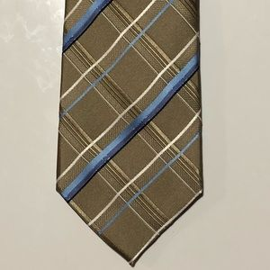 Croft & Barrow Gold and Blue Striped Tie